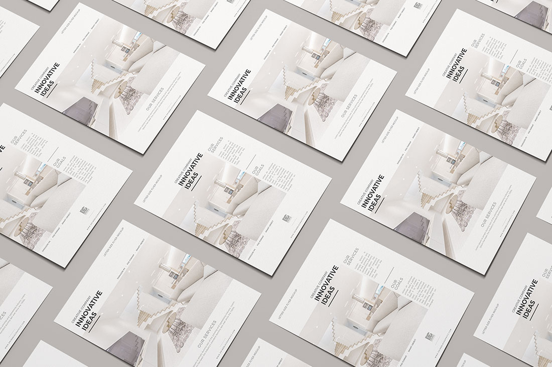 27 High-Quality Free Flyer Mockups PSD 2019 - Colorlib