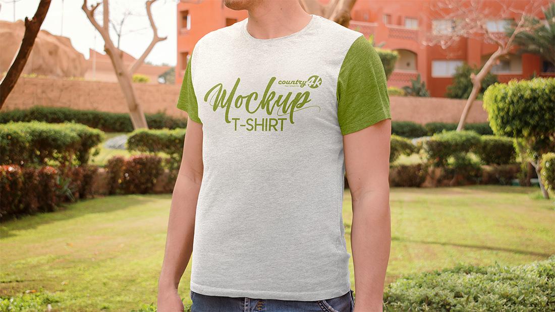 Trendy Men T-shirt Mockup