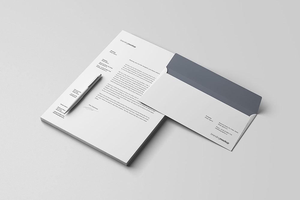 letterhead mockup