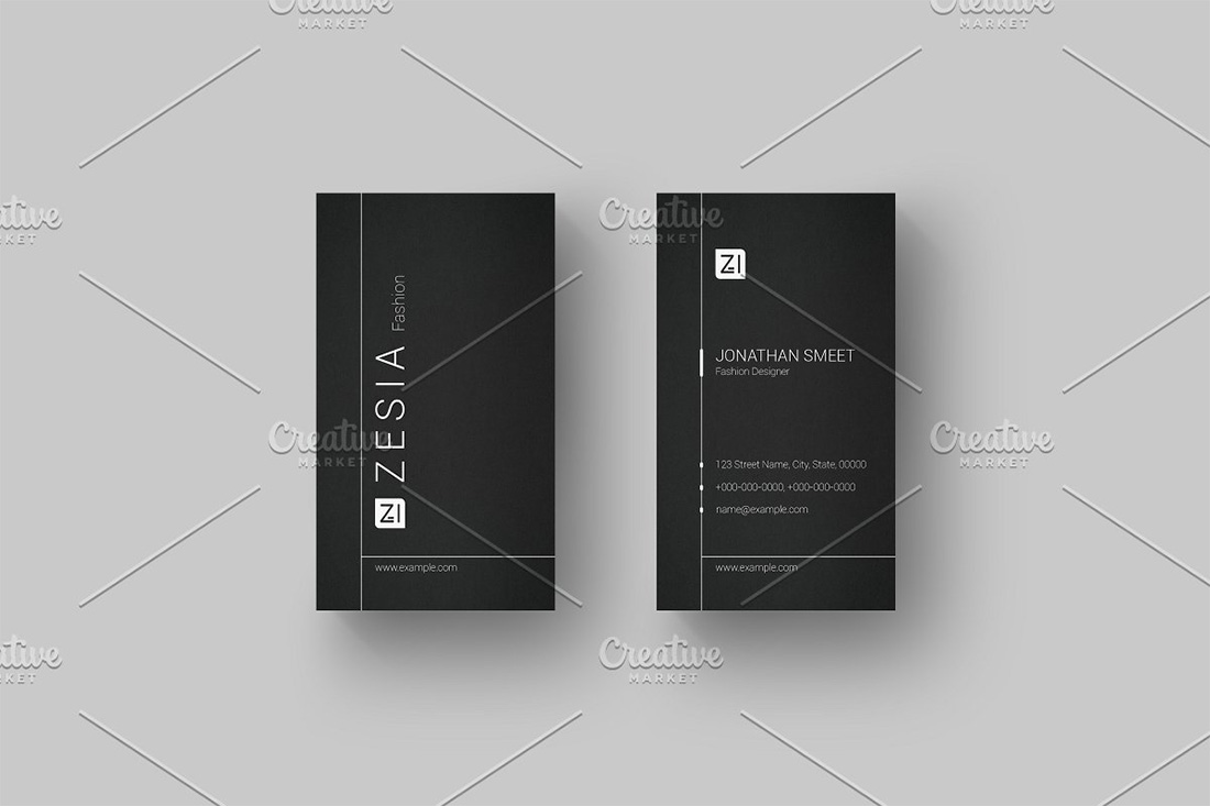 38 Vertical Business Card Mockups And Templates For Business Colorlib
