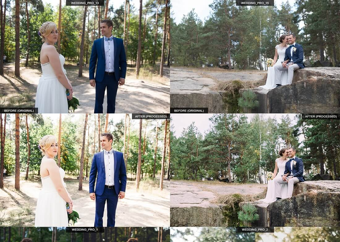 28 pro wedding presets