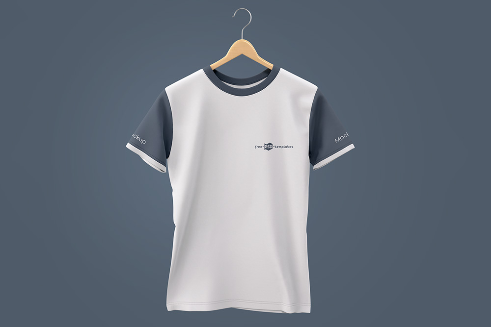 Round Neck T-shirt PSD Mockup