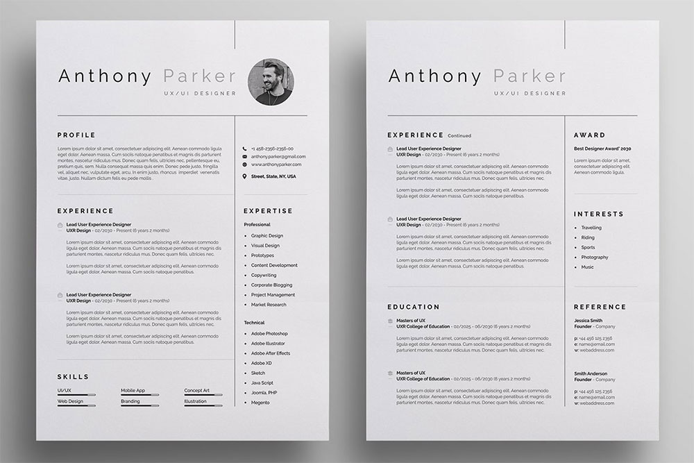 39 Useful Resume Mockups To Create Professional Resume Colorlib