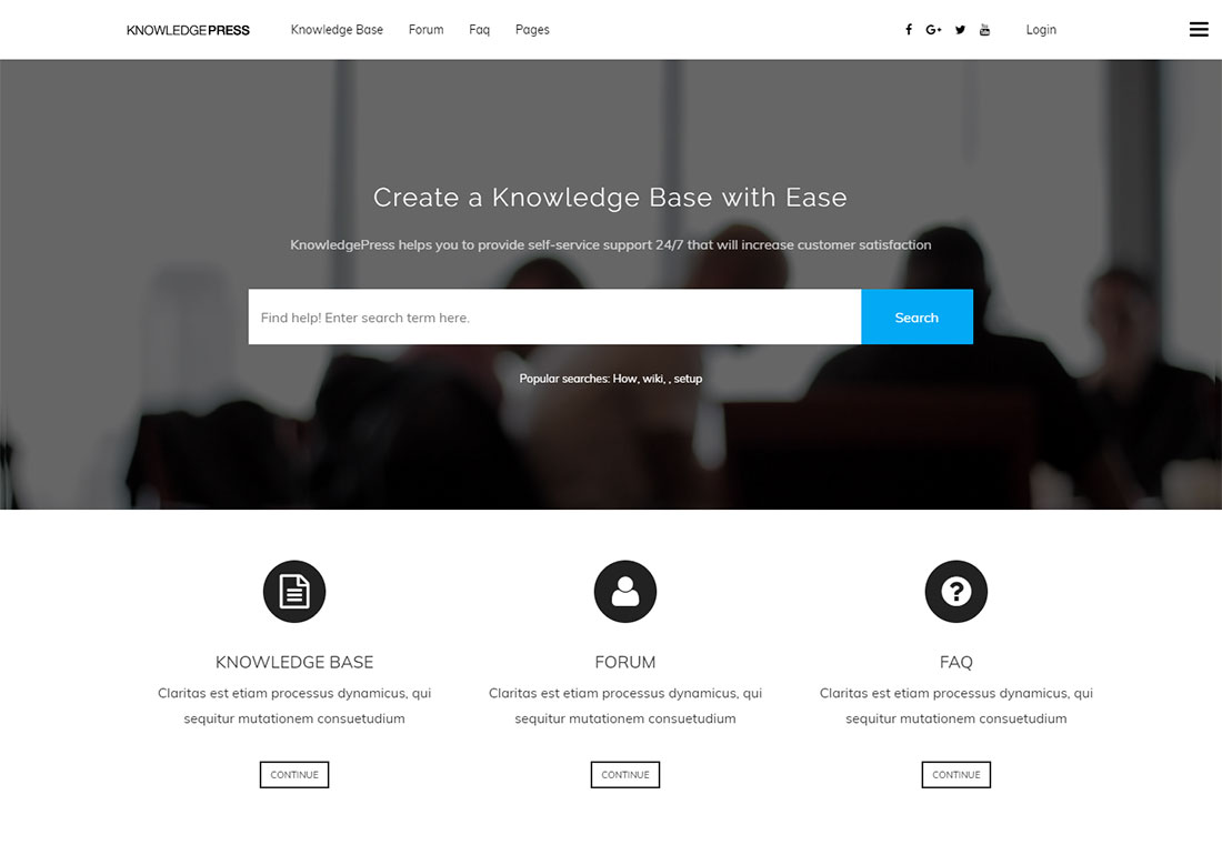 KnowledgePress WordPress wiki theme