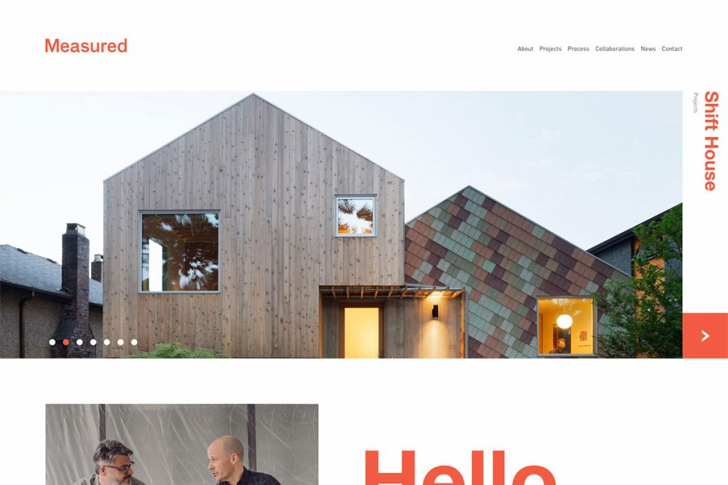 Measured architecute website