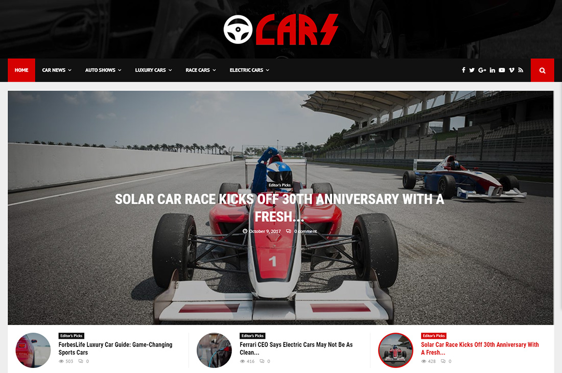 pennews cars magazine wordpress themes