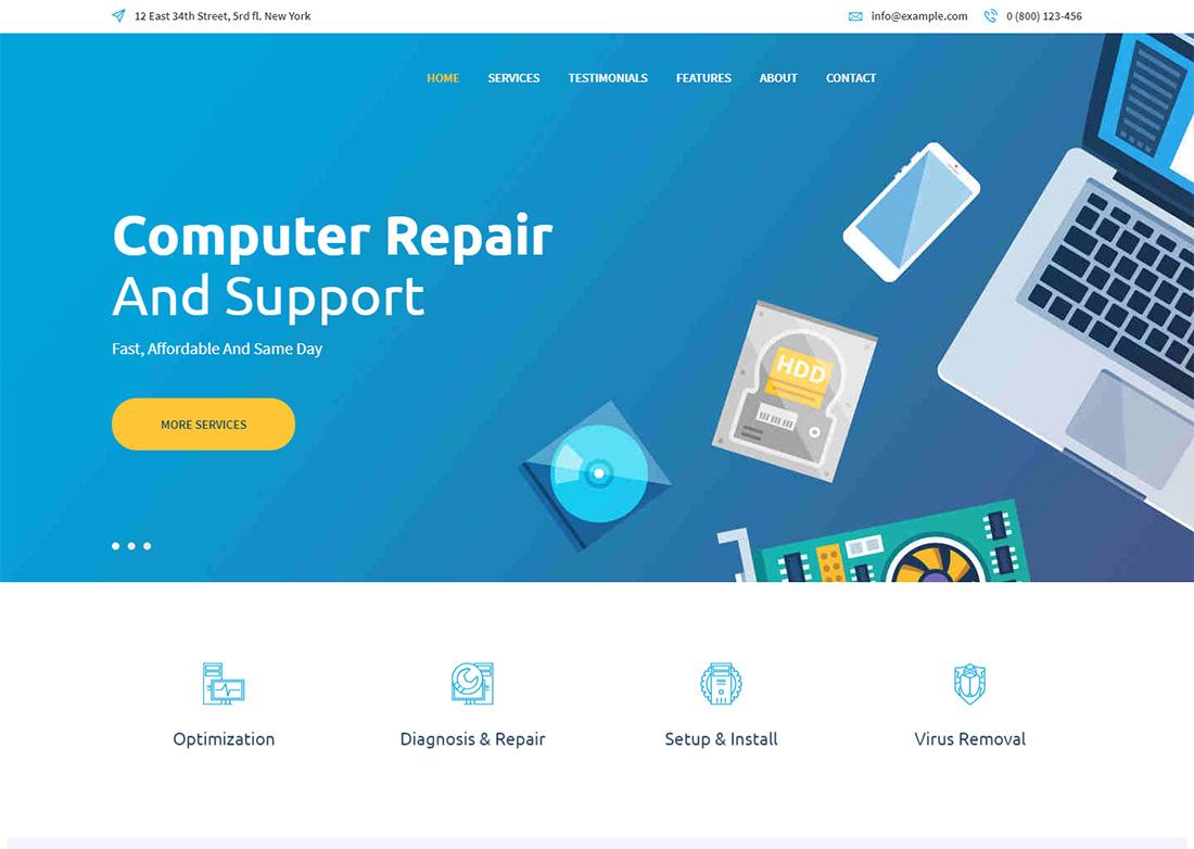 Re:Bytes Repair Computer Repair WordPress Themes