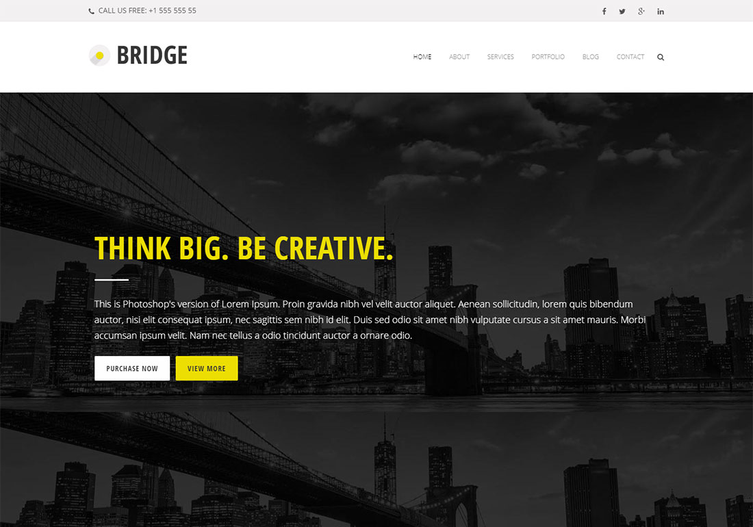 Bridge digital agency WordPress theme