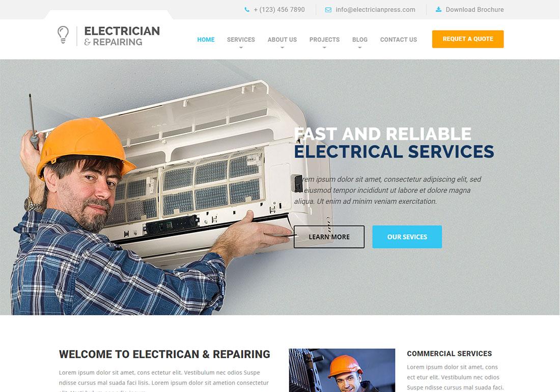 Electrician & Repairing - HTML