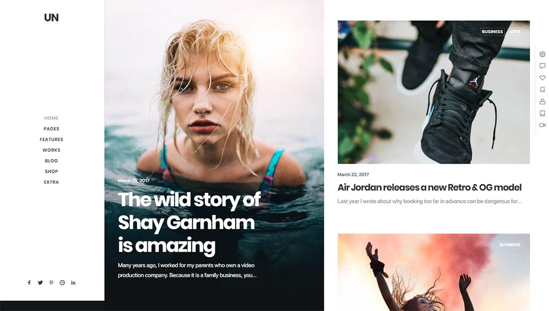 glamor magazine themes