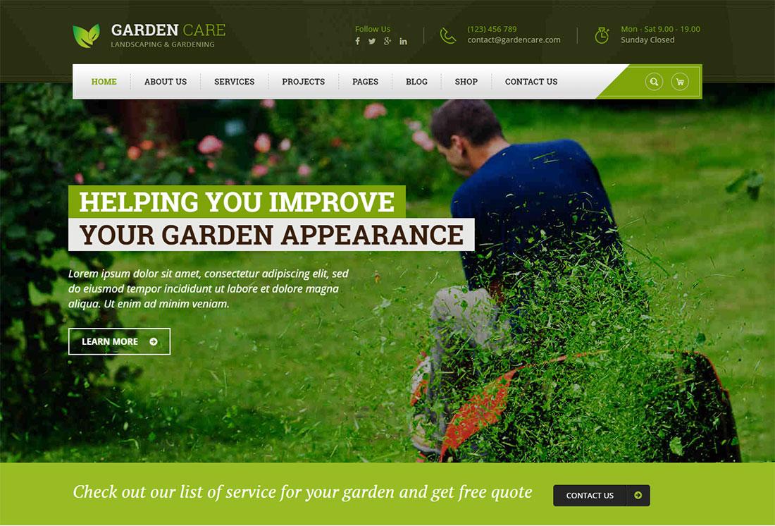 Garden Care Landscaping Website Template