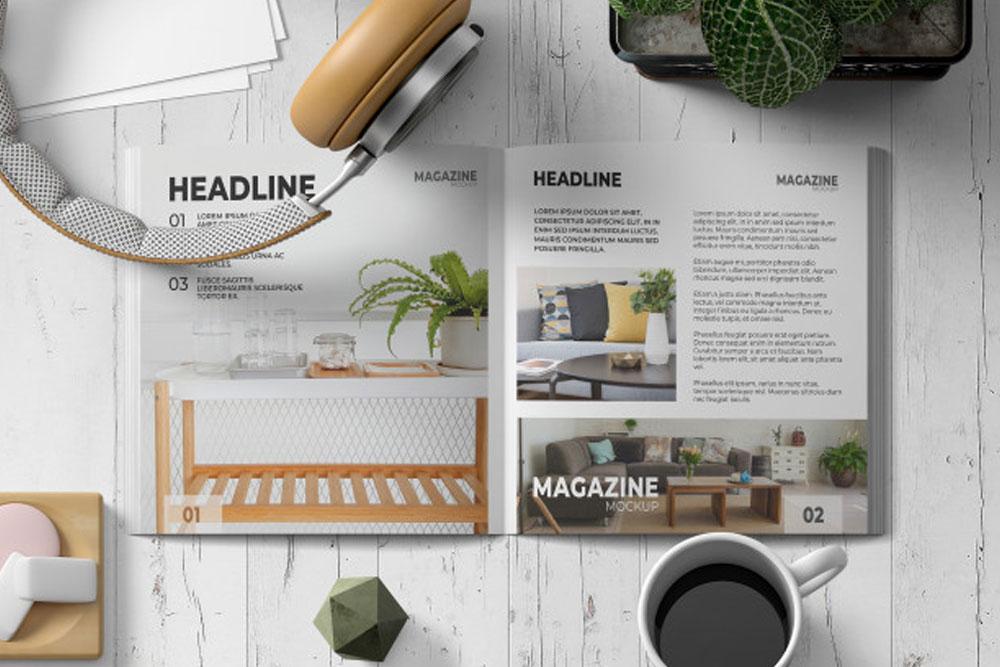 magazine ad mockup