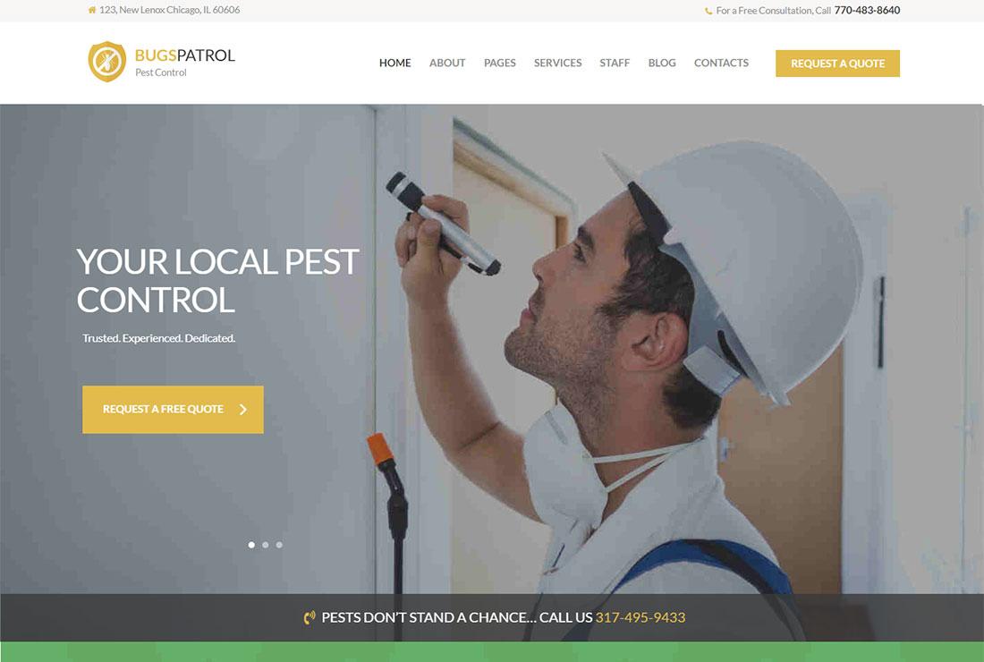 Bugspatrol Pest Control WordPress Theme