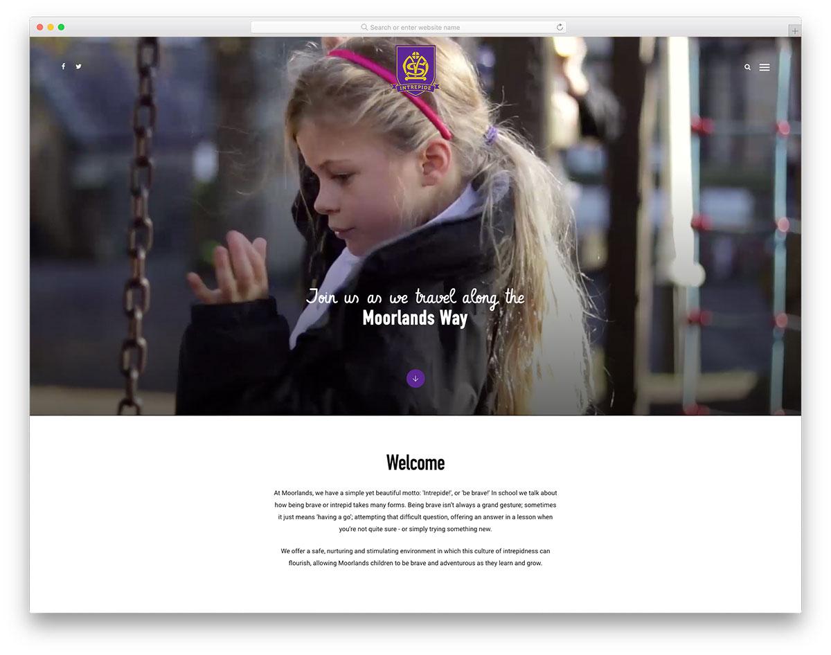 Moorlands kindergarten website