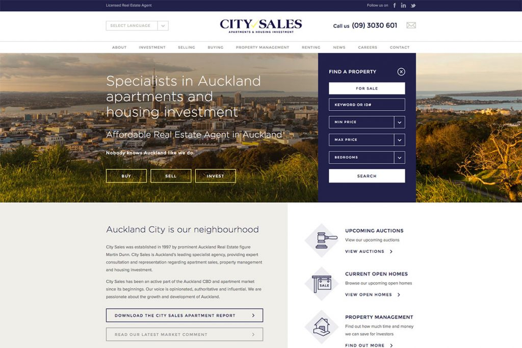 City Sales real estate website