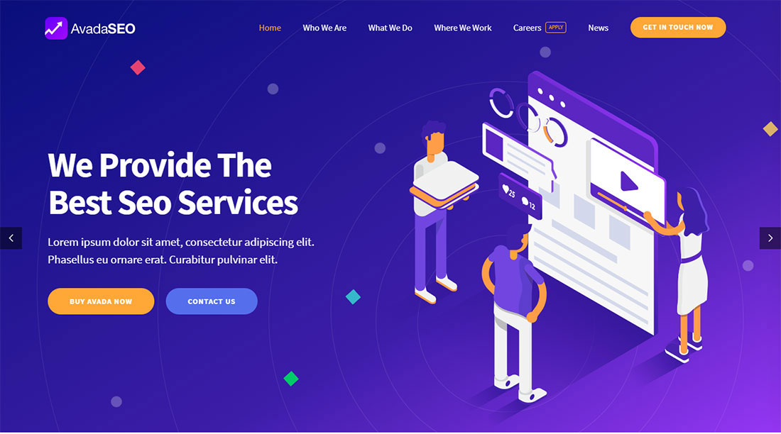 Avada seo agency WordPress theme