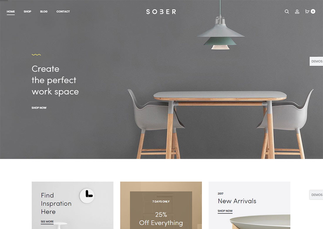 sober mobile friendly ecommerce theme