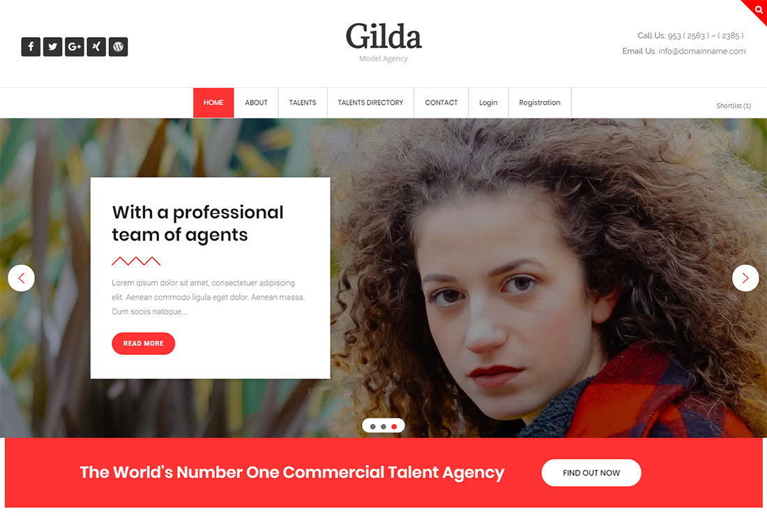 Gilda WordPress themes for actors
