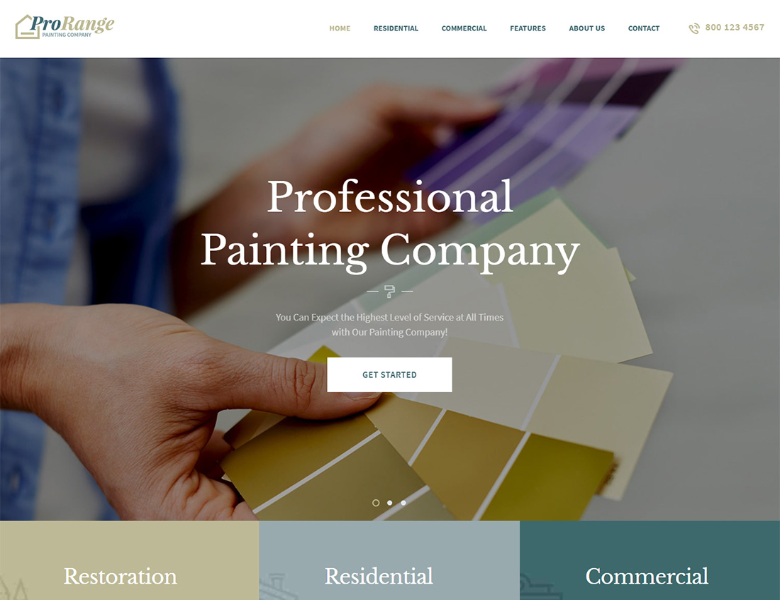 ProRange WordPress Themes for Painters