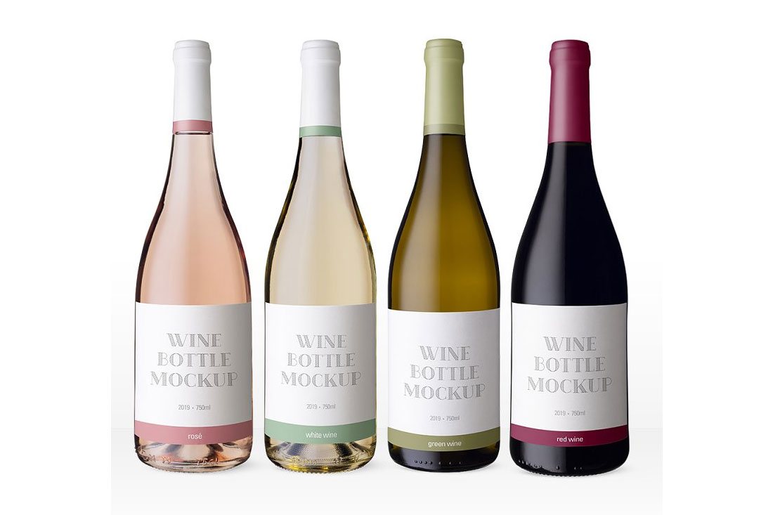 40 Exceptional Free Wine Bottle Mockups For Wineries ...