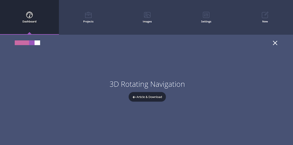 3D Rotating Navigation CodyHouse