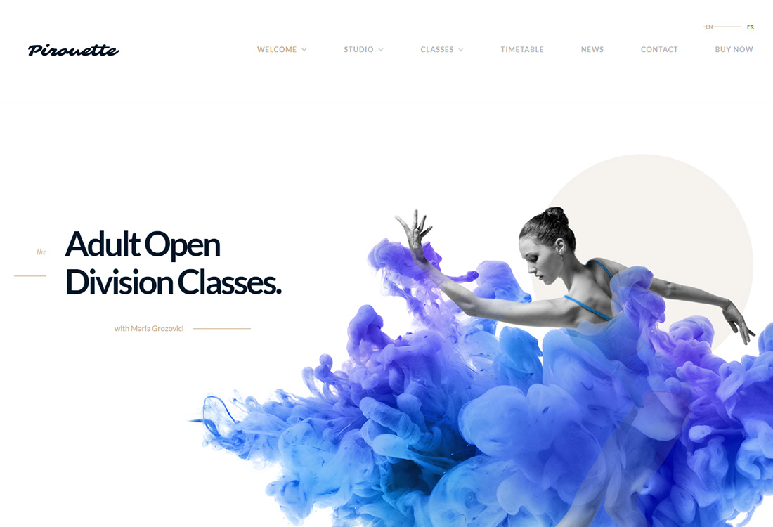Dancing Academy WordPress theme