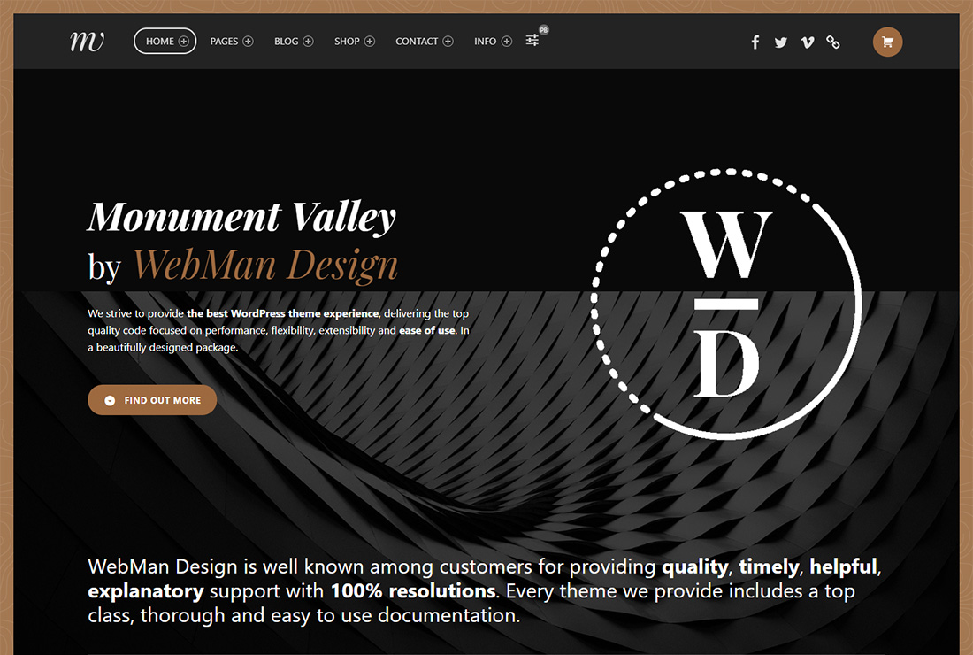 Monument Valley accessible WordPress theme