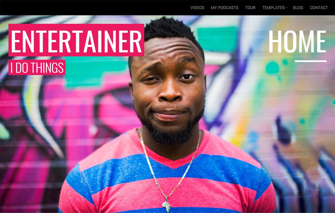 Entertainer Actor Website Template