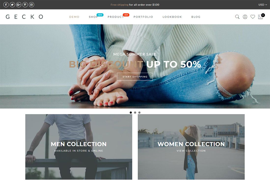 gecko ajax woocommerce theme