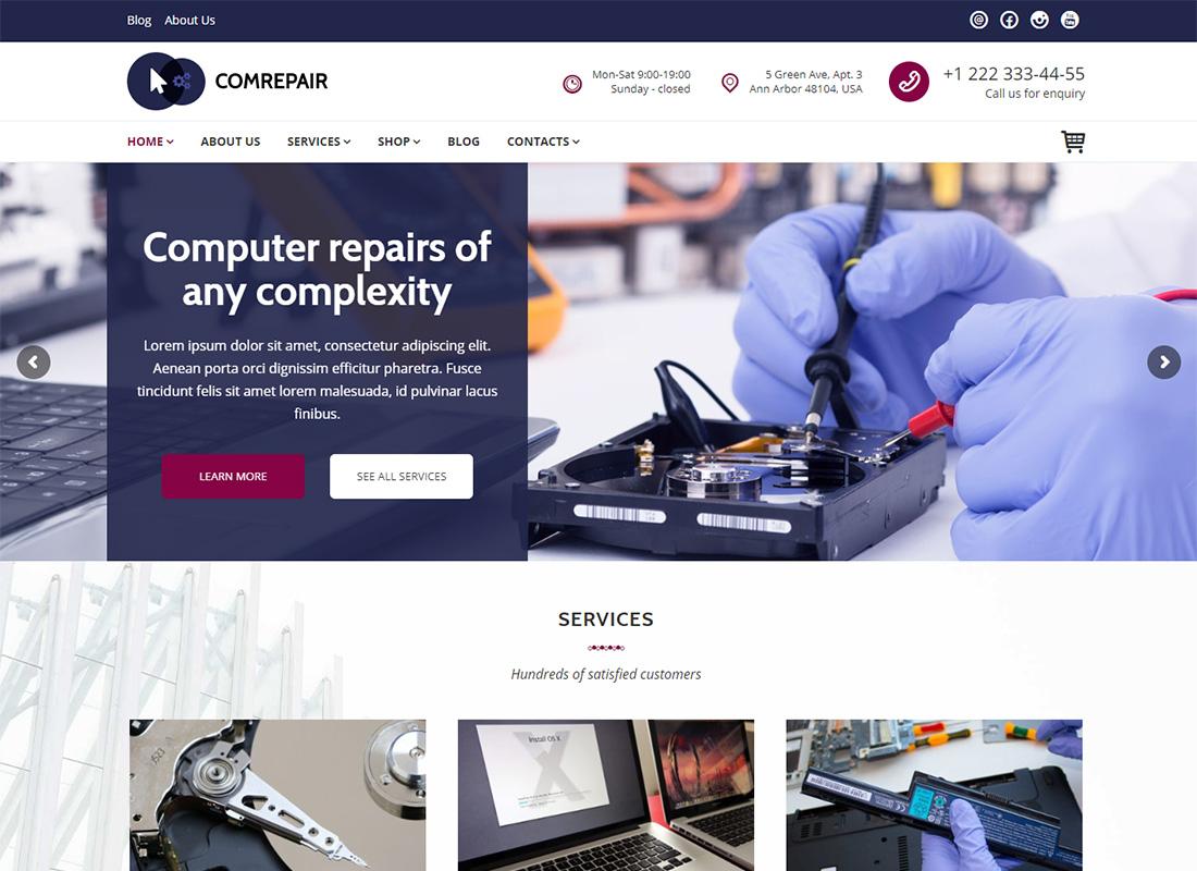 ComRepair Repair Computer Repair WordPress Themes