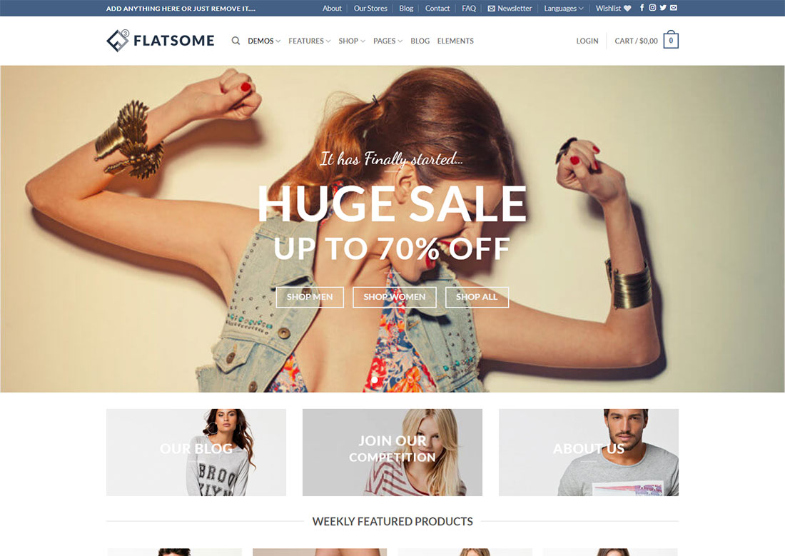 flatsome mobile friendly ecommerce theme