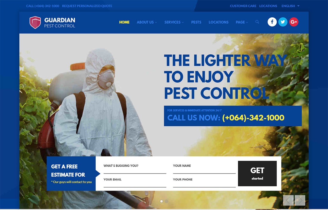 Guardian Pest Control WordPress Theme