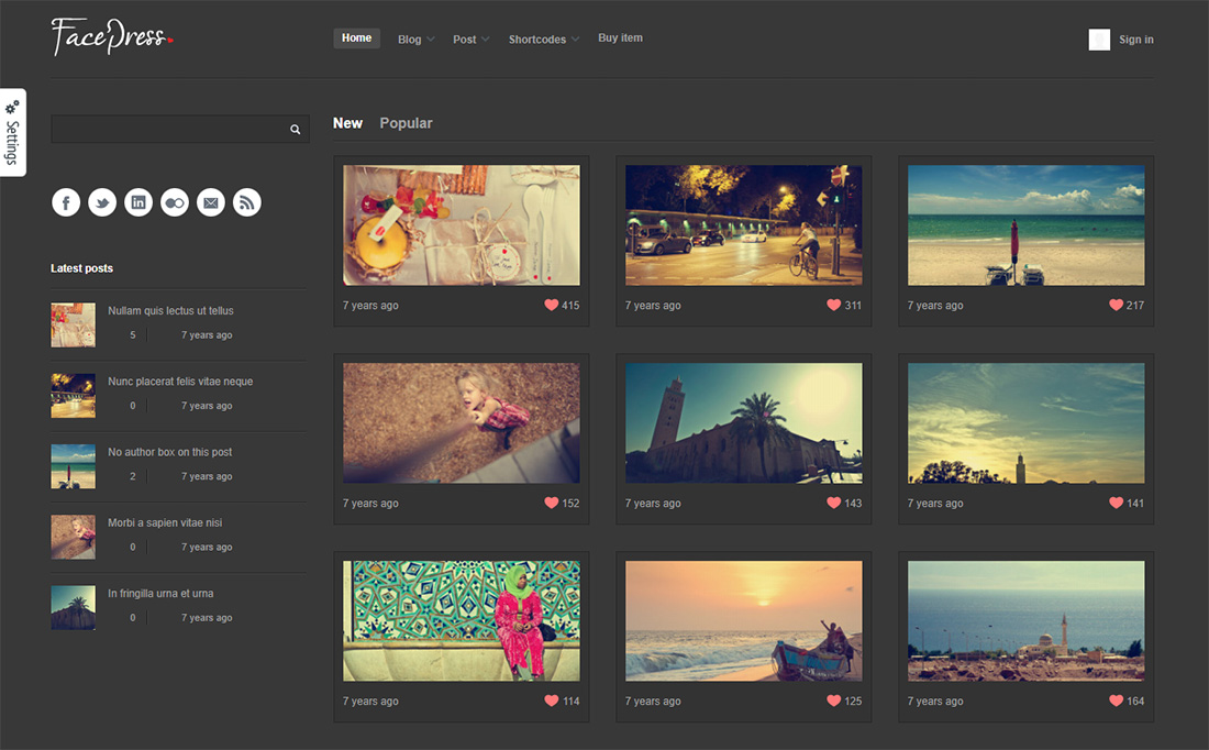 facepress photo sharing WordPress theme