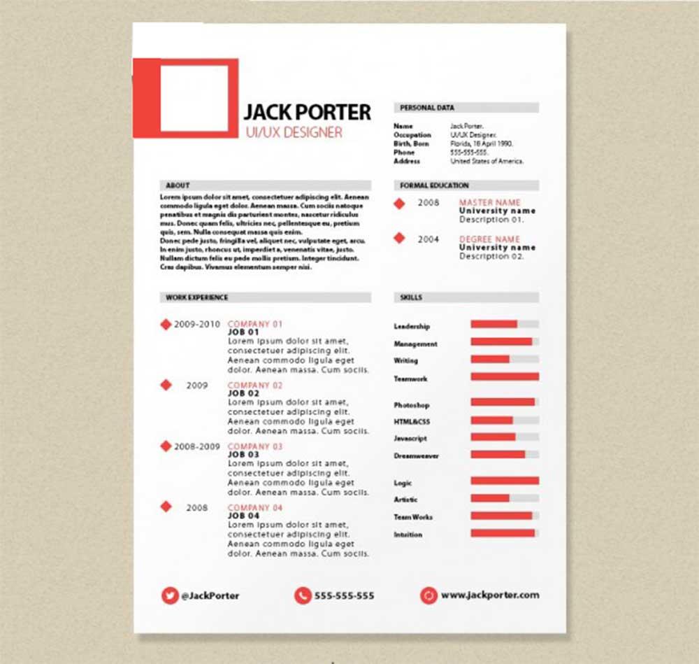 31 Useful Resume Mockups To Create Professional Resume - Colorlib