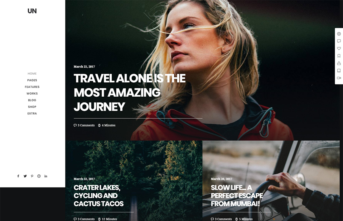 uncode travel magazine theme