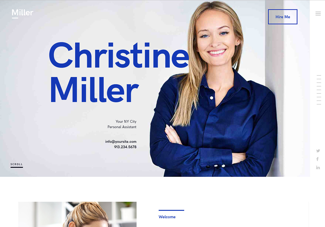 Miller Virtual Assistant Website Templates