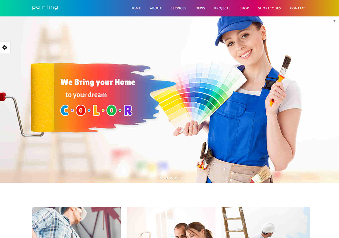 Paint WordPress Themes for Painters