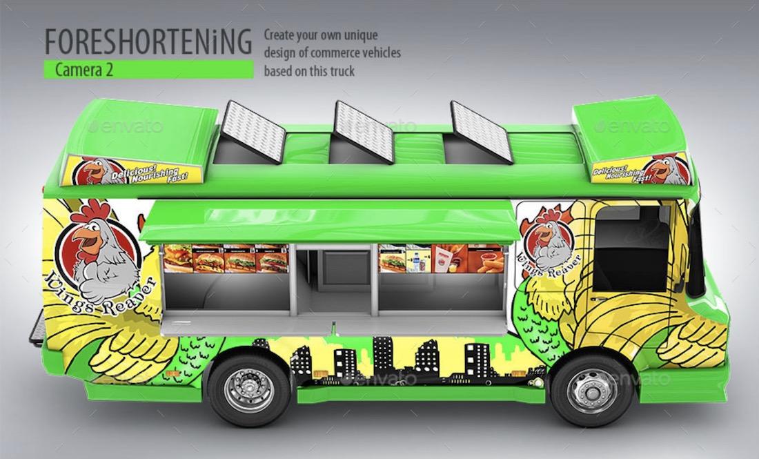 3d model food truck mockup