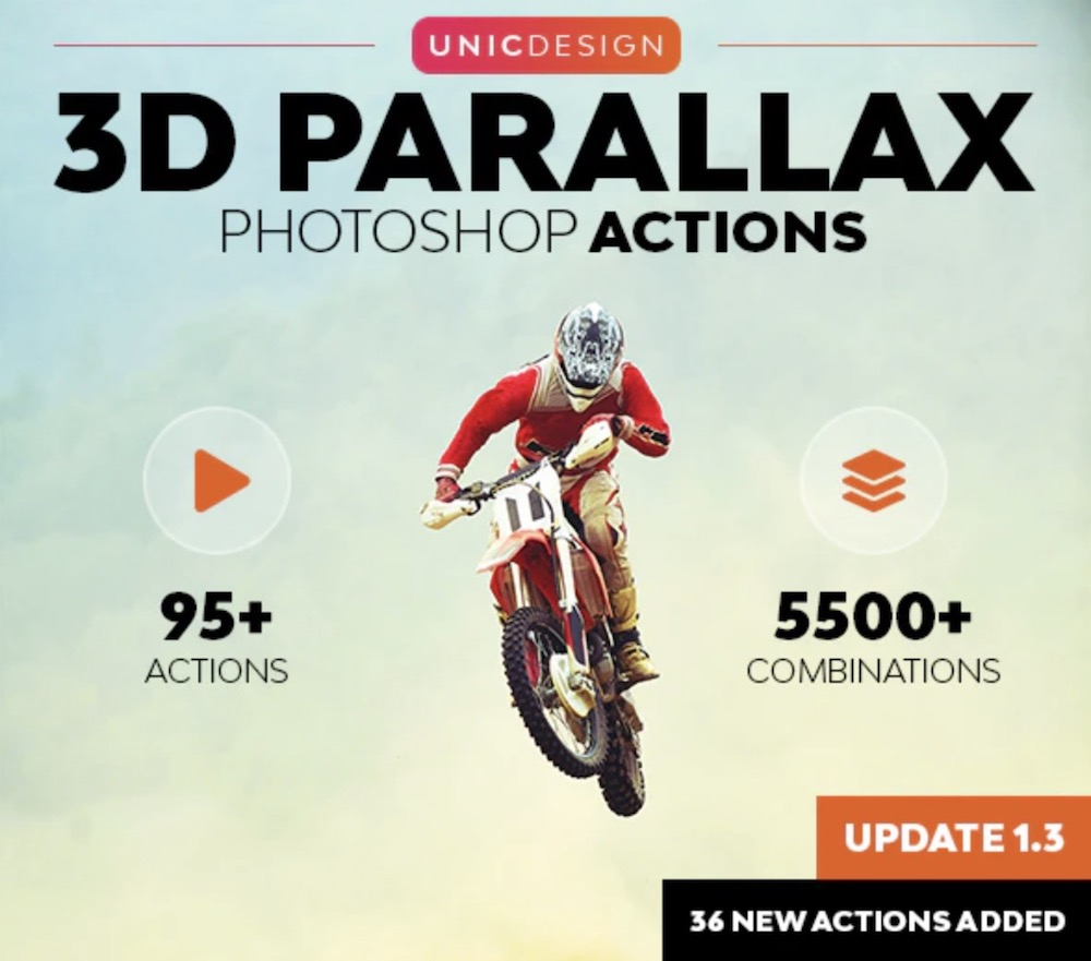 3d parallax animated photoshop actions