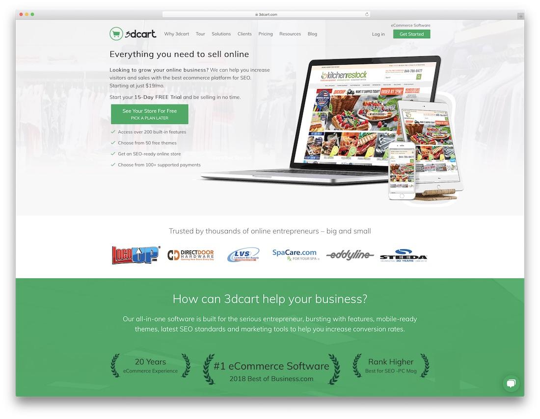 3dcart best ecommerce website builder