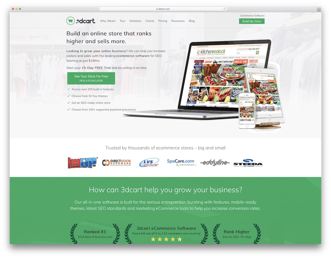 3dcart small business website builder