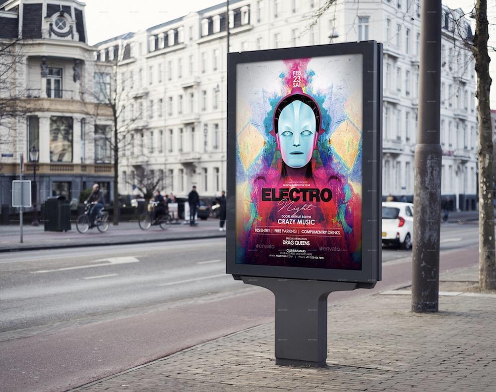 4 realistic billboard mockup