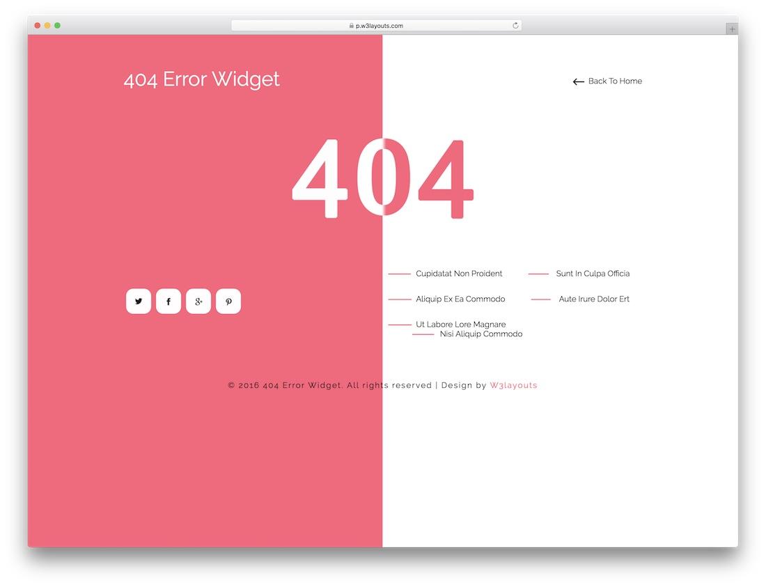 404 error widget free 404 error page template