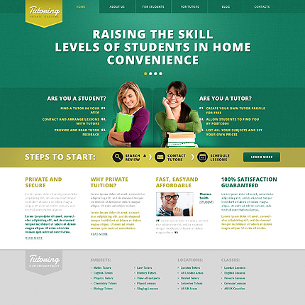 Tutoring WordPress Theme