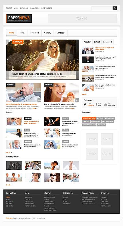 Interesting News Portal WordPress Theme