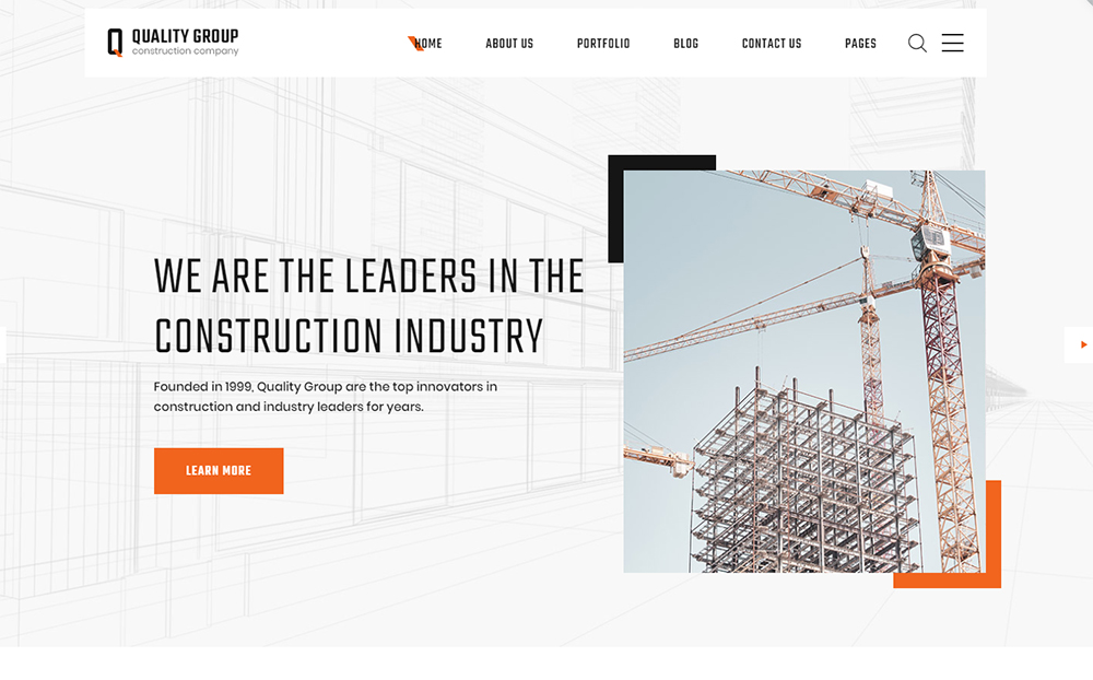Construction Company Clean Multipage HTML5 Template