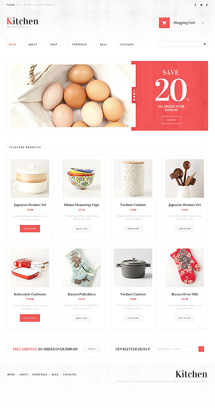 Kitchen Utensils WooCommerce Theme