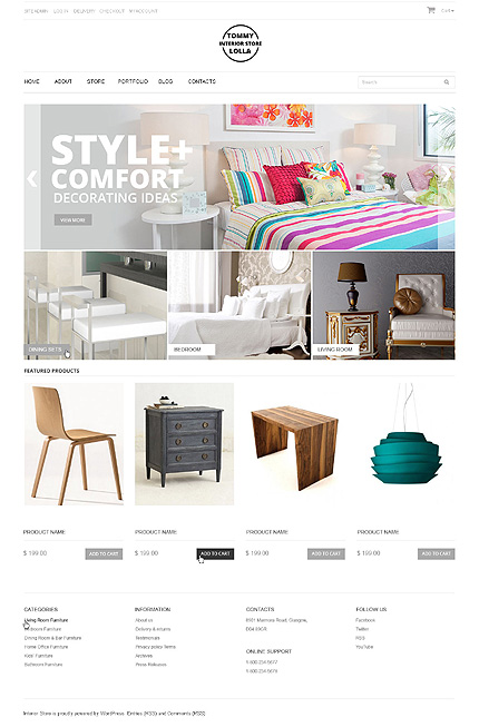 Tommy and Lolla - Interior Design Responsive WooCommerce Theme WooCommerce Theme