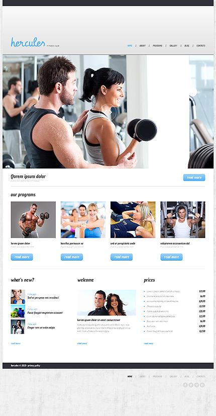 Fitness Responsive WordPress Theme