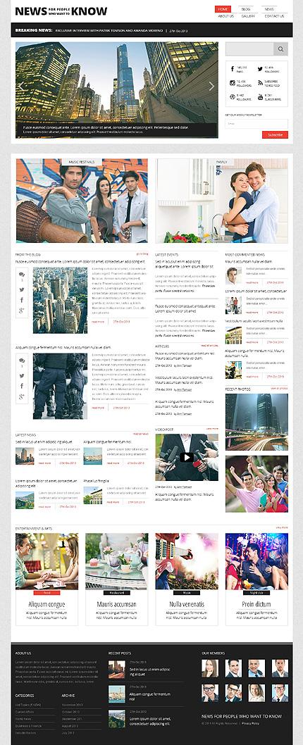 News Portal Responsive WordPress Theme
